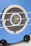 "Sparton ""Bluebird"" 566 Art Deco Teague Designed Blue Mirror Radio"